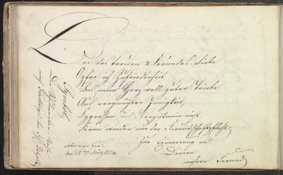Albuminscriptie van N.N., in het album amicorum van F.W. Jagow
