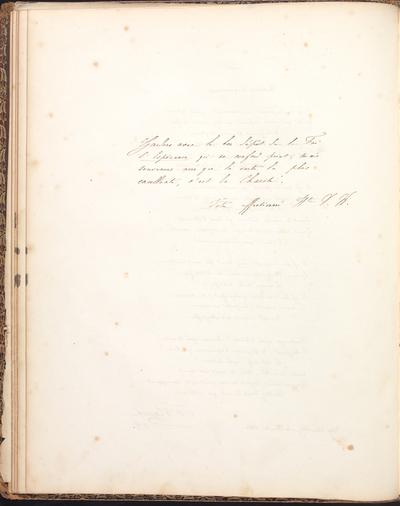Albumbijdrage in het album amicorum van Marie Müller door C.O. Siguel