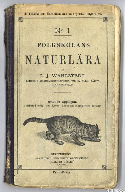 bok, lärobok, naturkunskap, böcker, textbok, Folkskolans naturlära, N:o 1