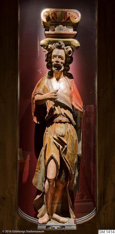 träskulptur, skulpturer, apostlafigur, apostle, sculpture