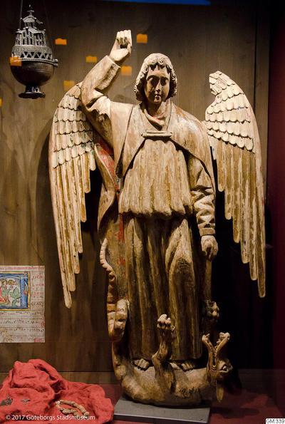 helgonbild, skulpturer, S:t Mikael, sculpture
