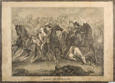 skolplansch, bilder, historia, school wallchart, wallchart, Svenska historien i bilder, Slaget vid Lützen 1632, The Battle of Lützen in 1632, Swedish History in Pictures