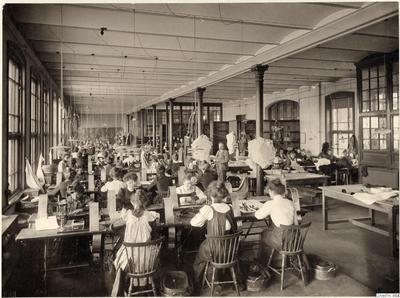 fotografi, bilder, påsiktsbild, seamstresses, photograph, interior, factory