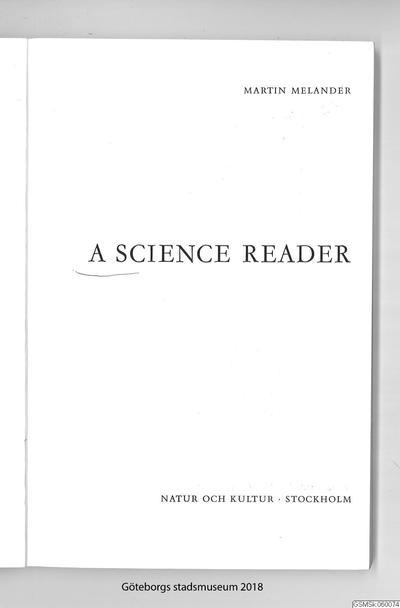 lärobok, engelska, böcker, textbok, A science reader