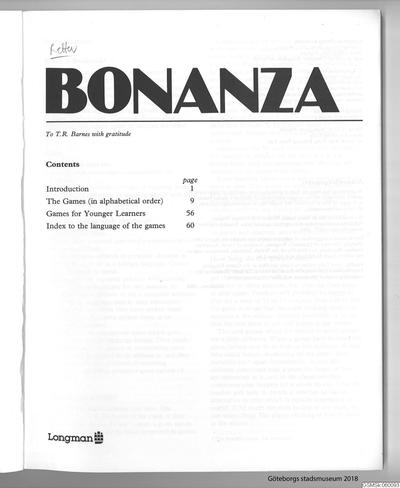 lärobok, engelska, böcker, övningsbok, 77 English language games for young learners, Bonanza