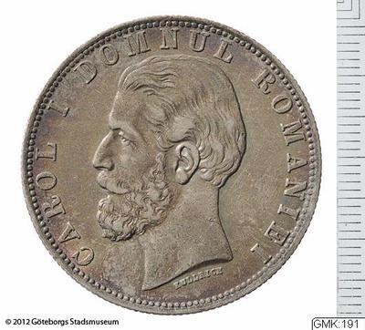 silvermynt, mynt, betalningsmedel, lei [myntslag], 5 lei
