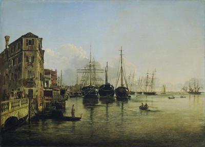 Ansicht der Strada Nuova gegen die Giardini Pubblici in Venedig
