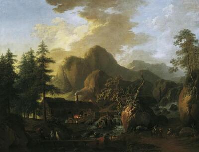 Landschaft mit Hammerwerk