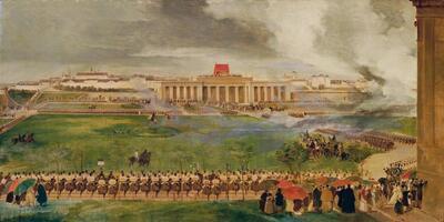 Die Feldmesse am äußeren Burgplatz am 13. April 1826