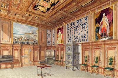 Der Krönungssaal in Schloss Laxenburg bei Wien
