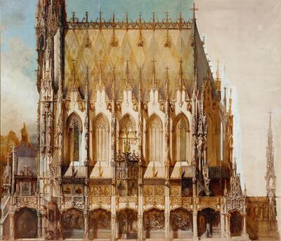 Gotische Grabkirche St. Michael, Seitenansicht