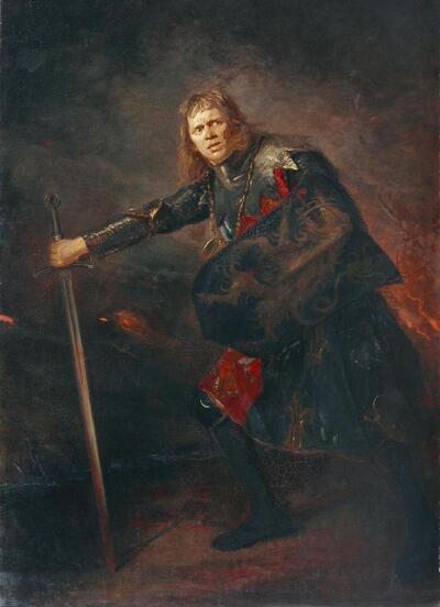 Der Schauspieler Alois Wohlmuth als Richard III.