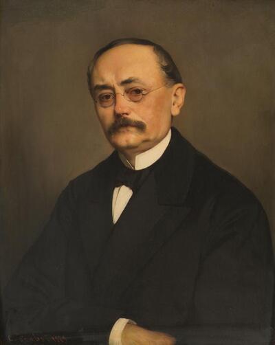 Der Minister Leopold Ritter Hasner von Artha
