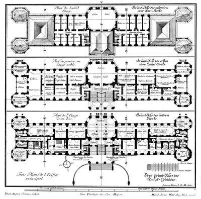 Grundriss von Erd-, Haupt- und Obergeschoss