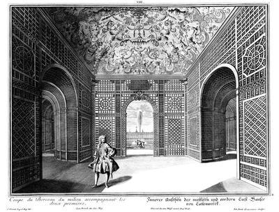 Inneres eines Pavillons im