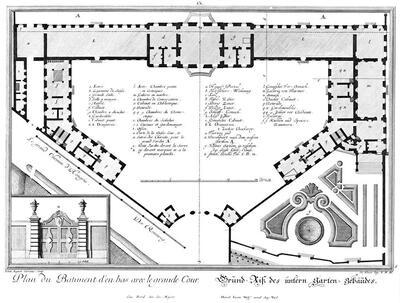 Grundriss des unteren Schlosses