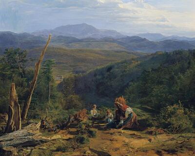 Wienerwaldlandschaft mit Schloss Wildegg