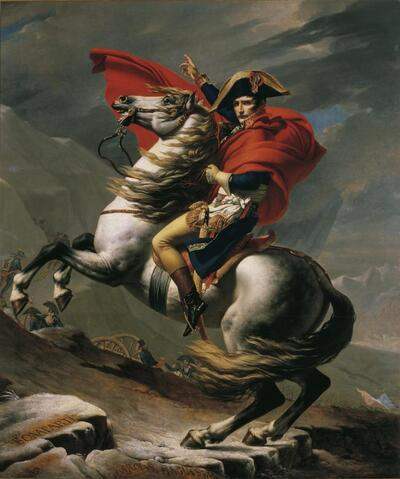 Napoleon am Großen St. Bernhard