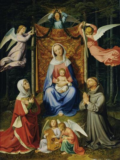 Waldesruhe (Madonna mit Kind, hl. Adelheid und hl. Franziskus)