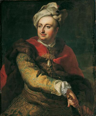 Bildnis eines Mannes in ungarischer Tracht (Imre Graf Tökölyi?)