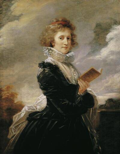 Die Schauspielerin Josefa Hortensia Füger, die Frau des Künstlers