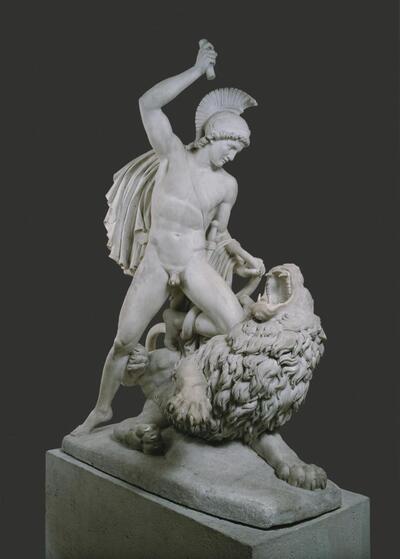 Bellerophon im Kampf mit der Chimeira