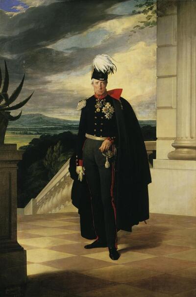 Kaiser Franz I. von Österreich in preußischer Generalsuniform