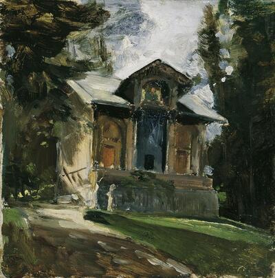 Das Atelier des Malers Heinrich von Angeli in der Reichenau