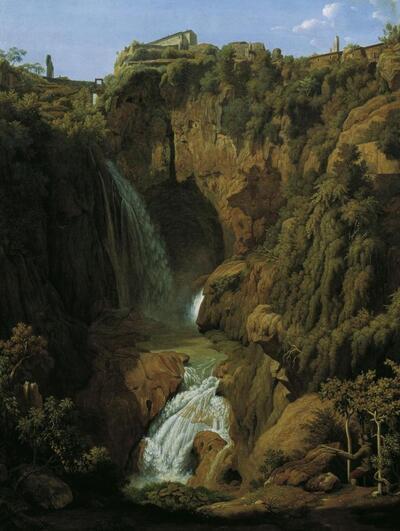 Die Neptungrotte (Wasserfall bei Tivoli)