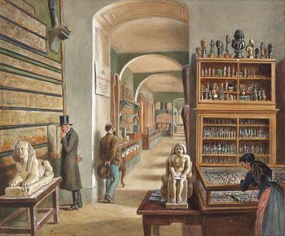 Das zweite Kabinett der ägyptischen Sammlung