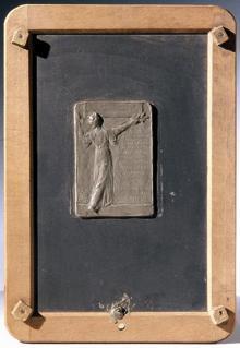 Verdienst-Plakette für Wilhelm August von Hartel mit weiblicher Allegorie