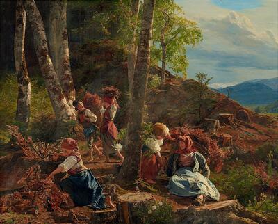 Reisigsammler im Wienerwald