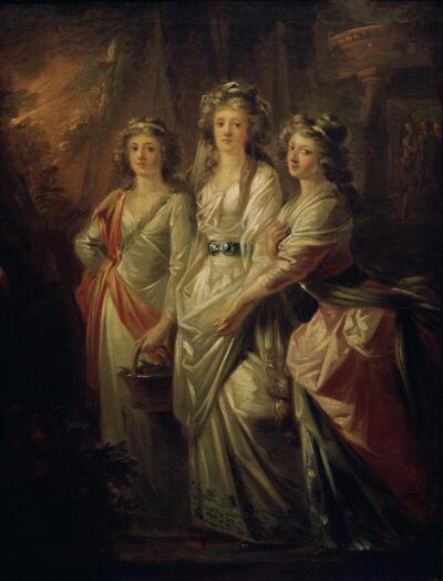 Die Gräfinnen Elisabeth, Christiane und Marie Karoline von Thun