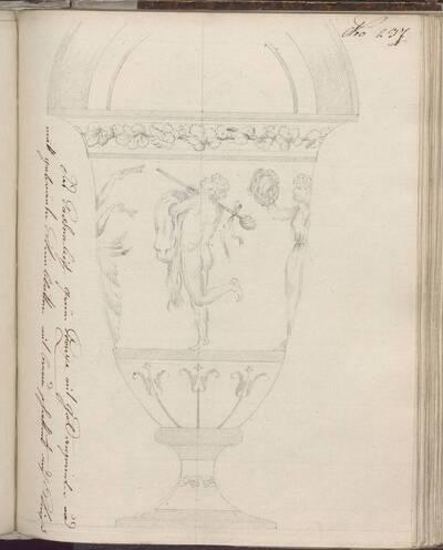 [Entwurf einer Vase mit Dekor] (vom Bearbeiter vergebener Titel)