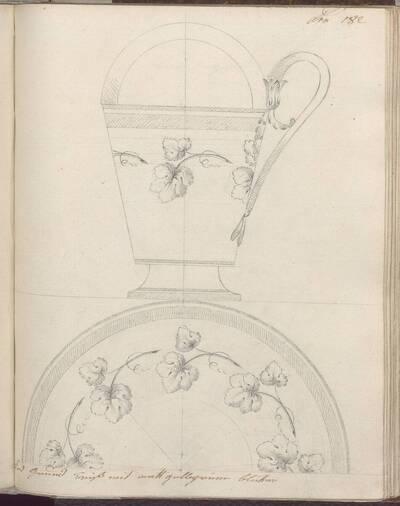 [Entwurf einer Tasse mit Dekor] (vom Bearbeiter vergebener Titel)