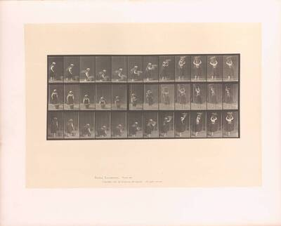 Animal Locomotion : Plates -Vol VII ; Males and females - (draped) and miscellaneous subjects ; Plate 230 (Originaltitel)