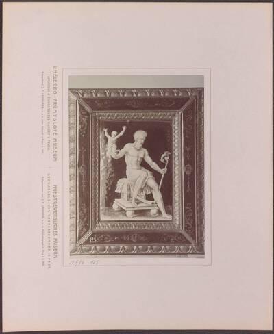 Fotografie einer Kupfertafel mit Emailmalerei, mit eienr Darstellung des Chronos, von Jean II. Penicaud, aus Limoges aus dem 16. Jh. (vom Bearbeiter vergebener Titel)