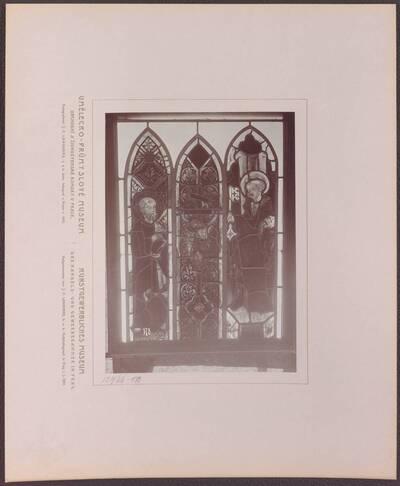 Fotografie eines gotischen Glasgemäldes aus Böhmen aus dem 14. Jh. (vom Bearbeiter vergebener Titel)