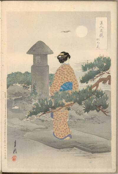 Kiefernblüten (Matsu no hana 松の花)