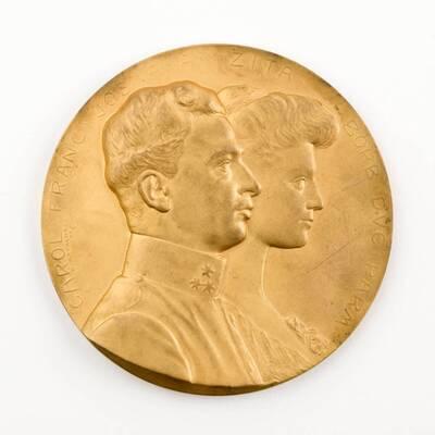 Medaille zur Erinnerung der Vermählung des Erzherzog Karl Franz Joseph mit Zita von Bourbon Parma