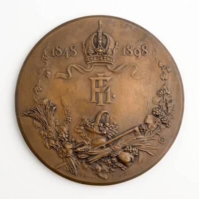 Medaille des Ackerbauministeriums anläßlich des 50 jährigen Regierungsjubiläums Kaiser Franz Josephs I.