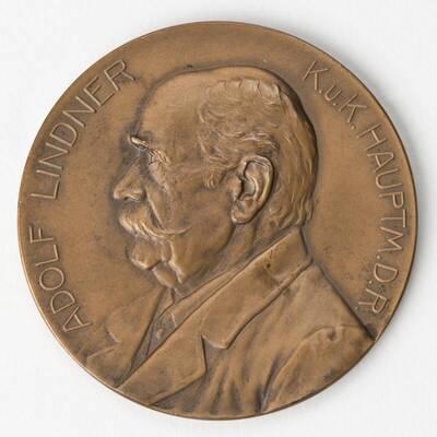 Medaille auf Adolf Lindner