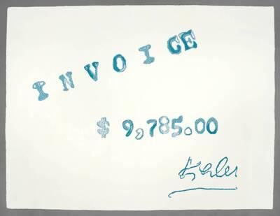 Invoice (Kiesler/Black Windows)
