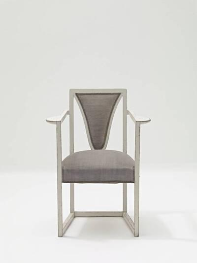 Armlehnstuhl aus einer Wohnungseinrichtung für Dr. Hermann Wittgenstein (Möbel aus dem Kinderzimmer)
