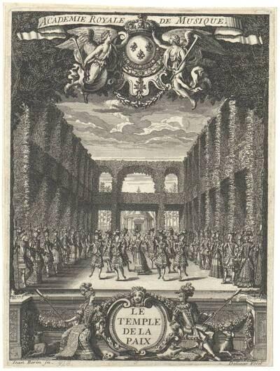 Le temple de la Paix, Blatt aus einer Folge von Operndekorationen mit Staffage für die Academie Royale de Musique (vom Bearbeiter vergebener Titel)