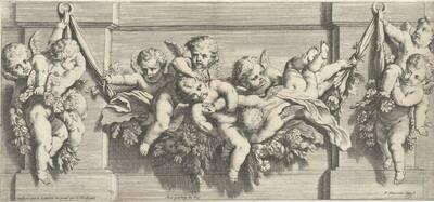 Blatt aus einer Folge von Friesen mit Putti, herausgegeben von P. Mariette (vom Bearbeiter vergebener Titel)