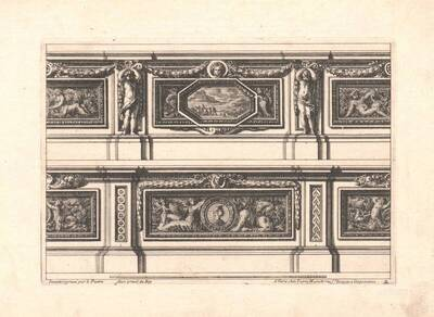Wanddekoration, Blatt 2 aus einer Folge, herausgegeben von P. Mariette (vom Bearbeiter vergebener Titel)
