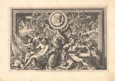 """Blatt 5 aus der Folge """"Tropehées d' Armes antique et moderne etc."""", herausgegeben von P. Mariette (vom Bearbeiter vergebener Titel)"""