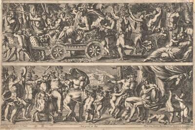 Fries, der Triumphzug des Bacchus, Blatt 5 aus einer Folge, herausgegeben von P. Mariette (vom Bearbeiter vergebener Titel)