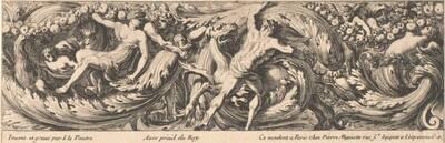 Fries, Figuren und Tiere zwischen Laubwerkranken, herausgegeben von P. Mariette (vom Bearbeiter vergebener Titel)